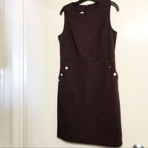NWT Talbots Purple Houndstooth Plaid Sheath Dress